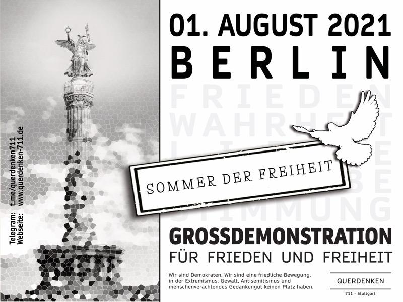 Demonstration am 01.08.2021 in Berlin!